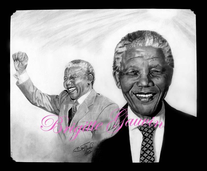 Nelson Mandela by BrigitteGo